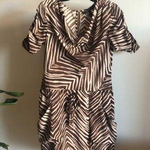 BCBG mini dress in animal print